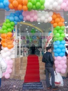 Kapıtak balon süsleme