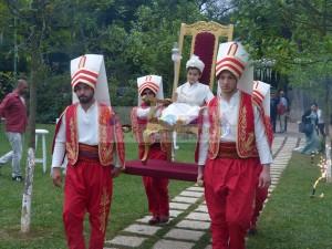 Sünnet yeniçeri askeri sünnet çocuğu taşıma tahtı